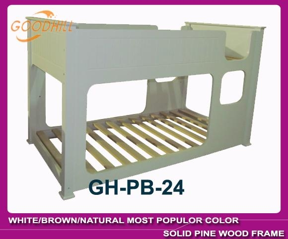 white bunk bed with slat head structure 2