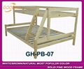 white bunk bed with slat head structure 4