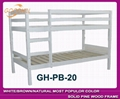 white bunk bed with slat head structure 5