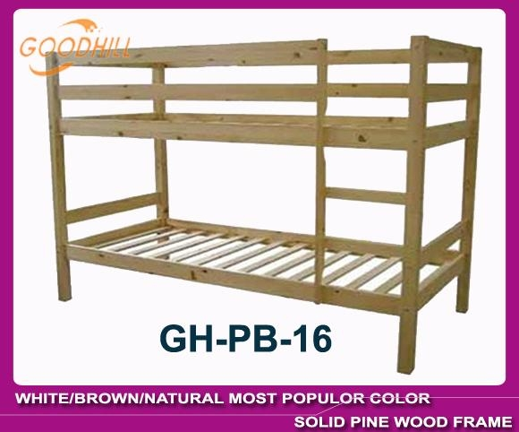 strong structure natural bunk with slat head style 1