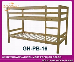 strong structure natural bunk with slat head style