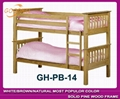 strong structure natural bunk with slat head style 3