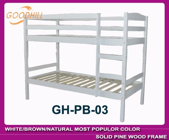 strong structure natural bunk with slat head style 5