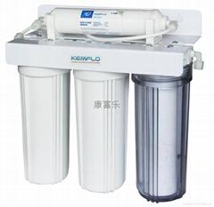 溢泰橱下型4道过滤净水器树脂活