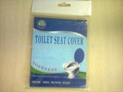 1/2 toilet seat cover paper