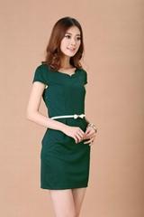 女裝春夏裝新款通勤韓版修身顯瘦短袖包臀工裝OL職業連衣裙子