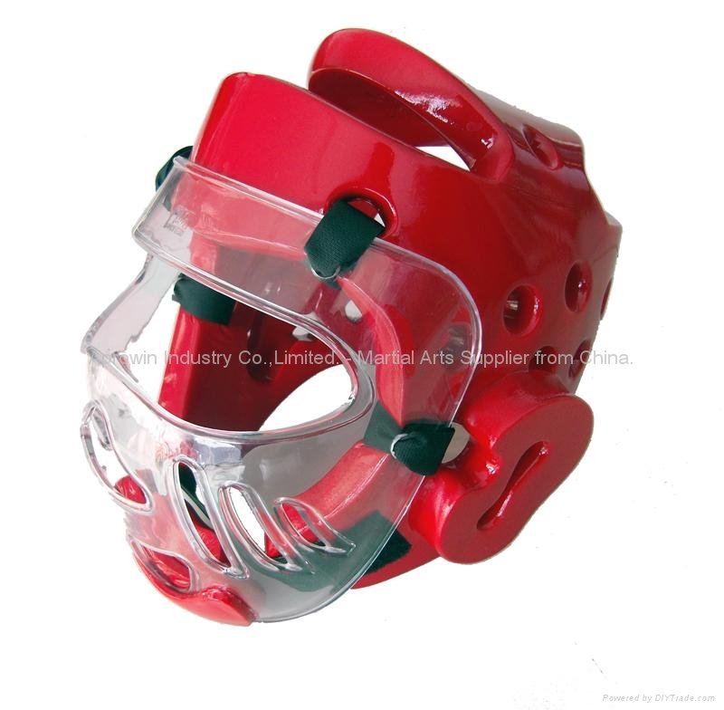 Karate head guard with face shield