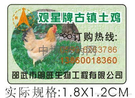 防伪鸡扣标签