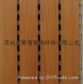 深圳踏普木质槽孔吸音板 1