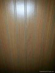Decorative grooved plywo