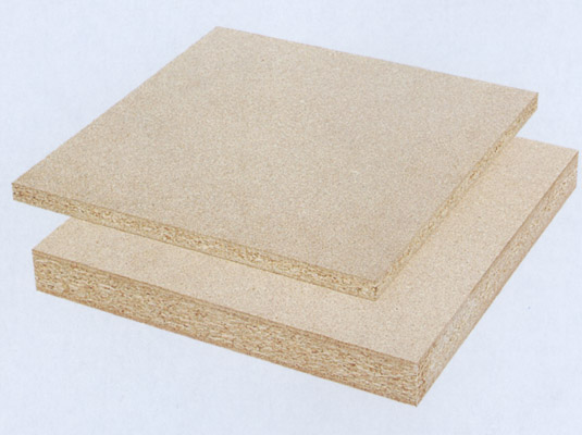 Construction Grade Particle Board ~ Plain particle board gl china manufacturer