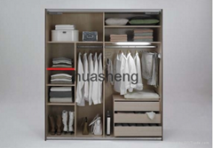 Melamine MDF particle board bedroom walk in wardrobe