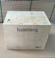 Fitness Adjustable Wooden Plyo box/ Popular Crossfit Plyometric Box
