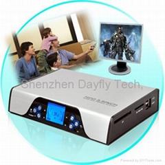"""3.5""""SATA HDMI HDD Media Players 1080I CF/SD Card reader/VGA/SCART+5.1Ch."""
