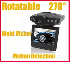 "2.5""LCD 6 IR LED HD Car DVR Camera Recorder,270° DVR127,factory welcome OEM"