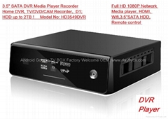 "3.5""SATA HDD Digital Video Player Recording,DVR Full HD 1080P media player,HDMI"