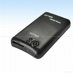 "Portable 2.5""SATA Full HD 1080P HDD Player RM/MKV/H.2​64/DIVX/DTS-SD​/USB/HOST"