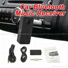 Wireless Car Bluetooth Music Receiver with Stereo Output