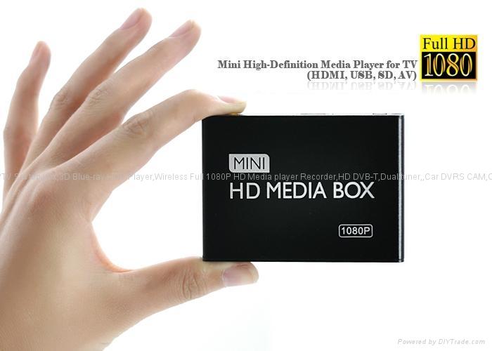全高清播放器Mini Full HD 1080P Media Player(AV,HDMI,USB,SD) 1