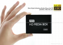 全高清播放器Mini Full HD 1080P Media Player(AV,HDMI,USB,SD)