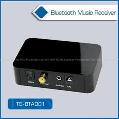 高保真蓝牙4.0音乐接收器 光纤同轴 3.5mm音频输出