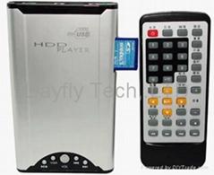 "Portable 2.5""SATA DIVX HDD Player+SD/MMC flash reader Function"