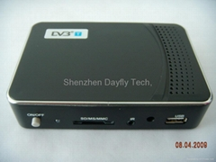DVB-T Receiver Media Player/Scart/Video Recorder,SD/MMC/HOST/DPF Function