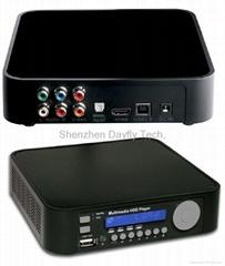 """New SATA 3.5""""1080i HDMI HDD MEDIA PLAYER DIVX SD/MMC Card reader+HOST HMP3500"""