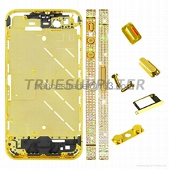 Apple iPhone 4 Diamond Middle Plate Housing Faceplates Gold