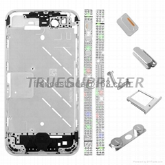 Diamond Middle Plate Housing Faceplates Silver for iphone 4