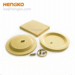 microns porous sintered bronze filter disc