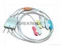 日本光电BR-546 3 导欧标夹式导联线