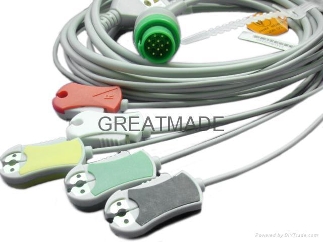 康強直插式(一體)電纜及五導歐標夾式導聯線 1