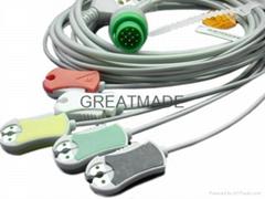 康強直插式(一體)電纜及五導歐標夾式導聯線