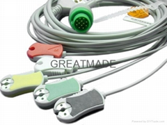 Kontron  one piece cable with 5-lead IEC grabber leadwires