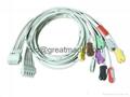 GE-Marquette MC-500/1200  EKG Multi-Link Leadwires , grabber