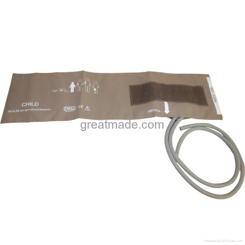 Infant soft dual tube NIBP cuff, 10-19cm Arm Circumference ,Coffee 1
