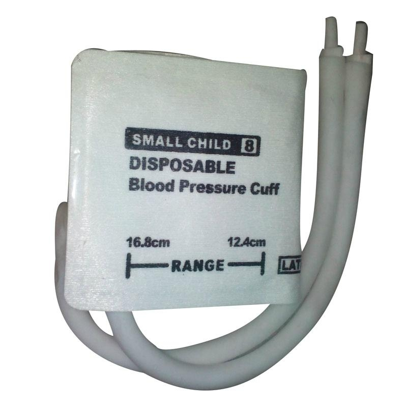 Small Child#8 Diposable Nibp Cuff -12.4-16.8cm Arm Circumference ,dual tubes 1