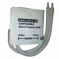 Small Child#8 Diposable Nibp Cuff -12.4-16.8cm Arm Circumference ,dual tubes