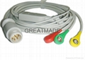 HP M1735A one piece 3-lead cable with