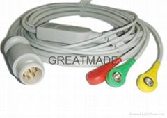 惠普M1735A一体除颤三导电缆及导联线