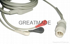 惠普M1733A一体除颤三导电缆及导联线