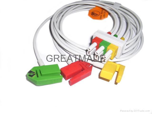 HP M1613A 3-lead IEC Grabber Leadwires  1