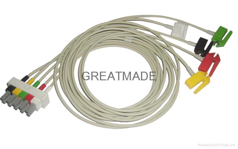 HP M1633A 5-lead IEC Grabber  Leadwires  1