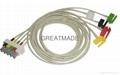 HP M1633A 5-lead IEC Grabber  Leadwires
