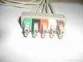 HP M1633A 5-lead IEC Grabber  Leadwires  2