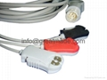 HP one -piece 3-lead AHA , Grabber  cable with leadwires  1