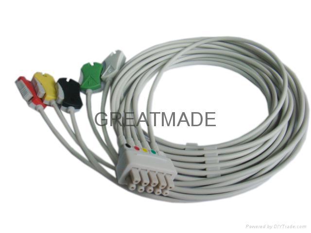 GE-馬葵五導歐標夾式導聯線 1