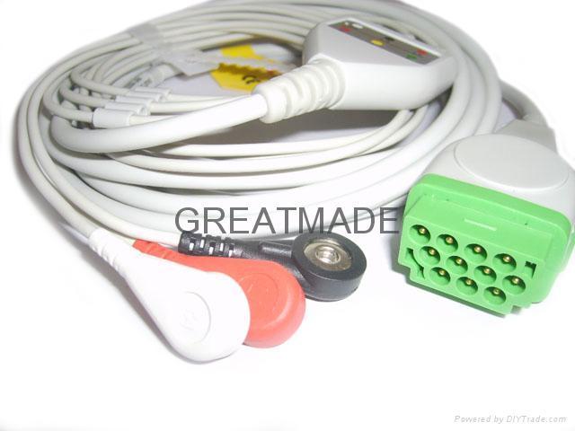 GE-马葵一体式电缆及三导美标扣式导联线