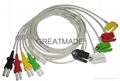 Spacelab 700-0006-11 Trulink  5-Lead IEC Grabber Leadwires  1